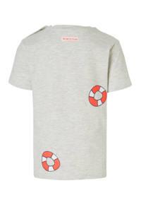 Babyface T-shirt met all over print grijs, Grijs/rood