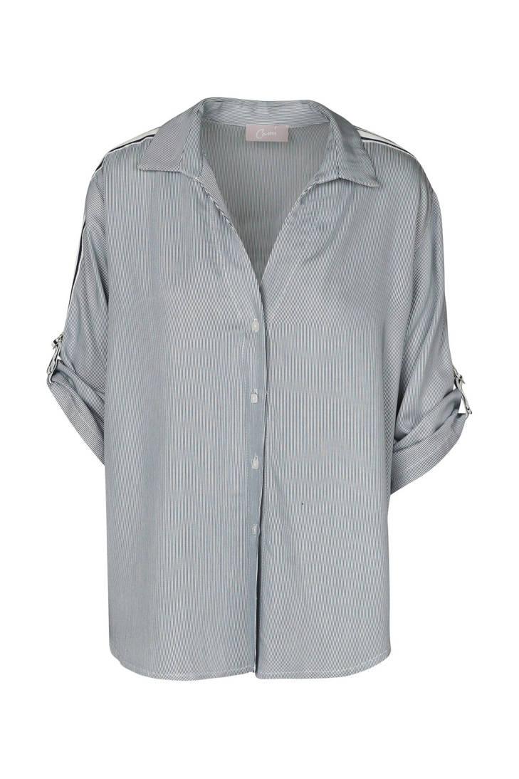 Cassis met Cassis zijstreep gestreepte gestreepte blouse zijstreep Cassis met blouse qXAdd8xaw