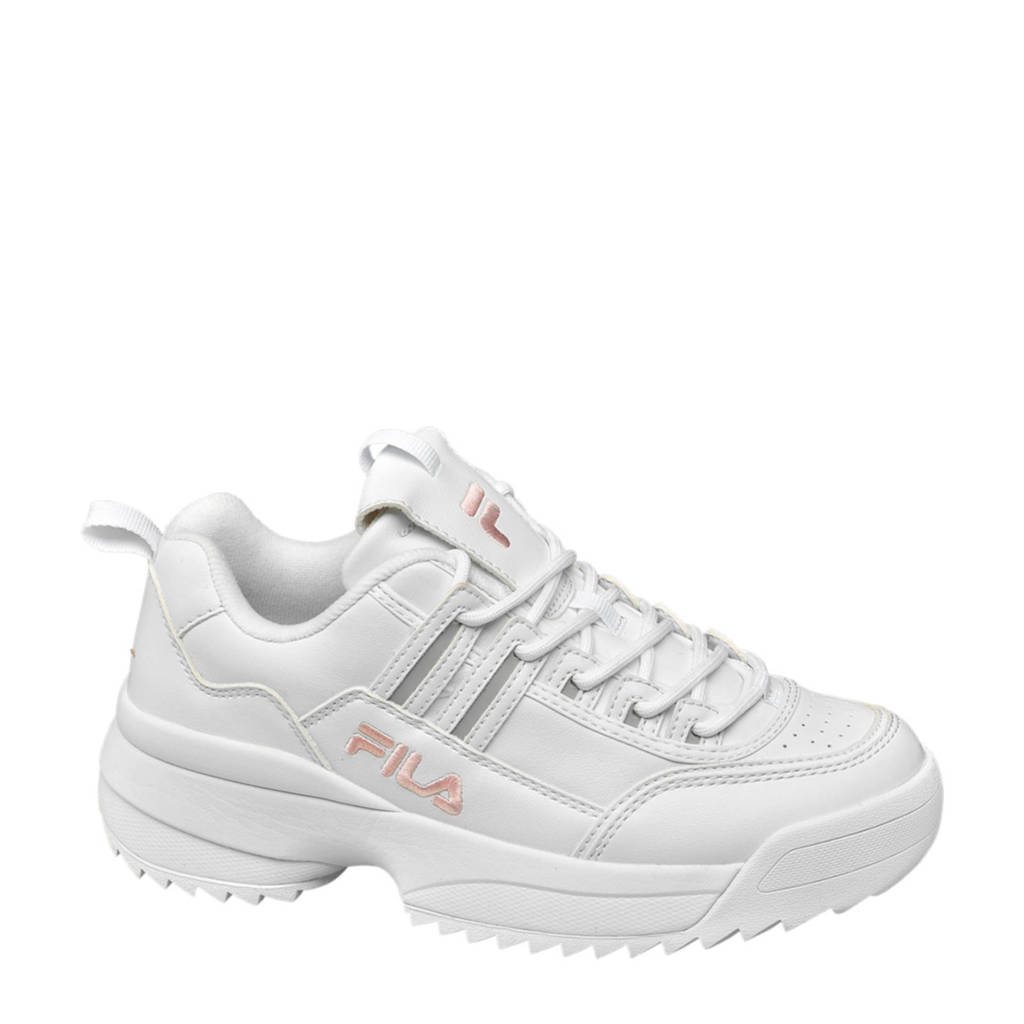 Fila  sneakers wit, Wit/roze