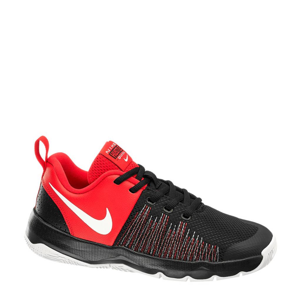 Nike  Hustle Quick sneakers zwart/rood, Zwart