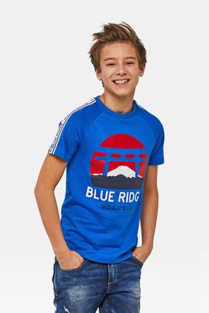 Blue Ridge T-shirt met printopdruk blauw