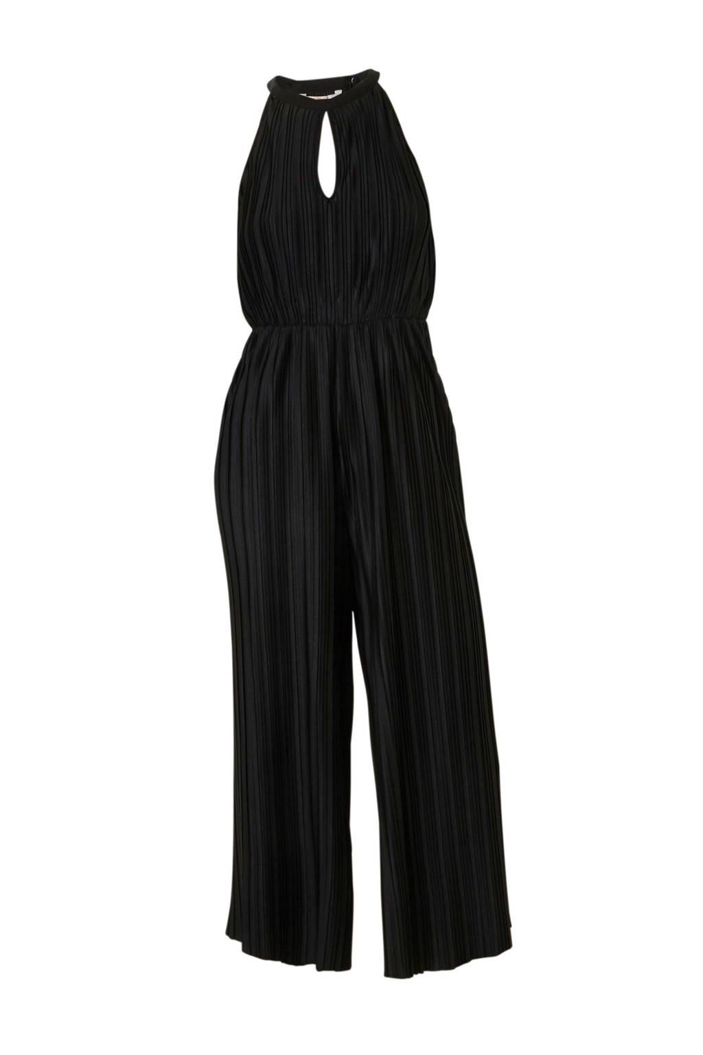 C&A Clockhouse plisse jumpsuit zwart, Zwart