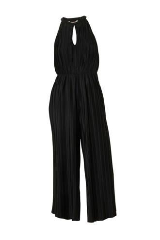 Clockhouse plisse jumpsuit zwart