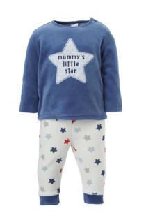 C&A Baby Club   velours pyjama met sterren blauw (jongens)