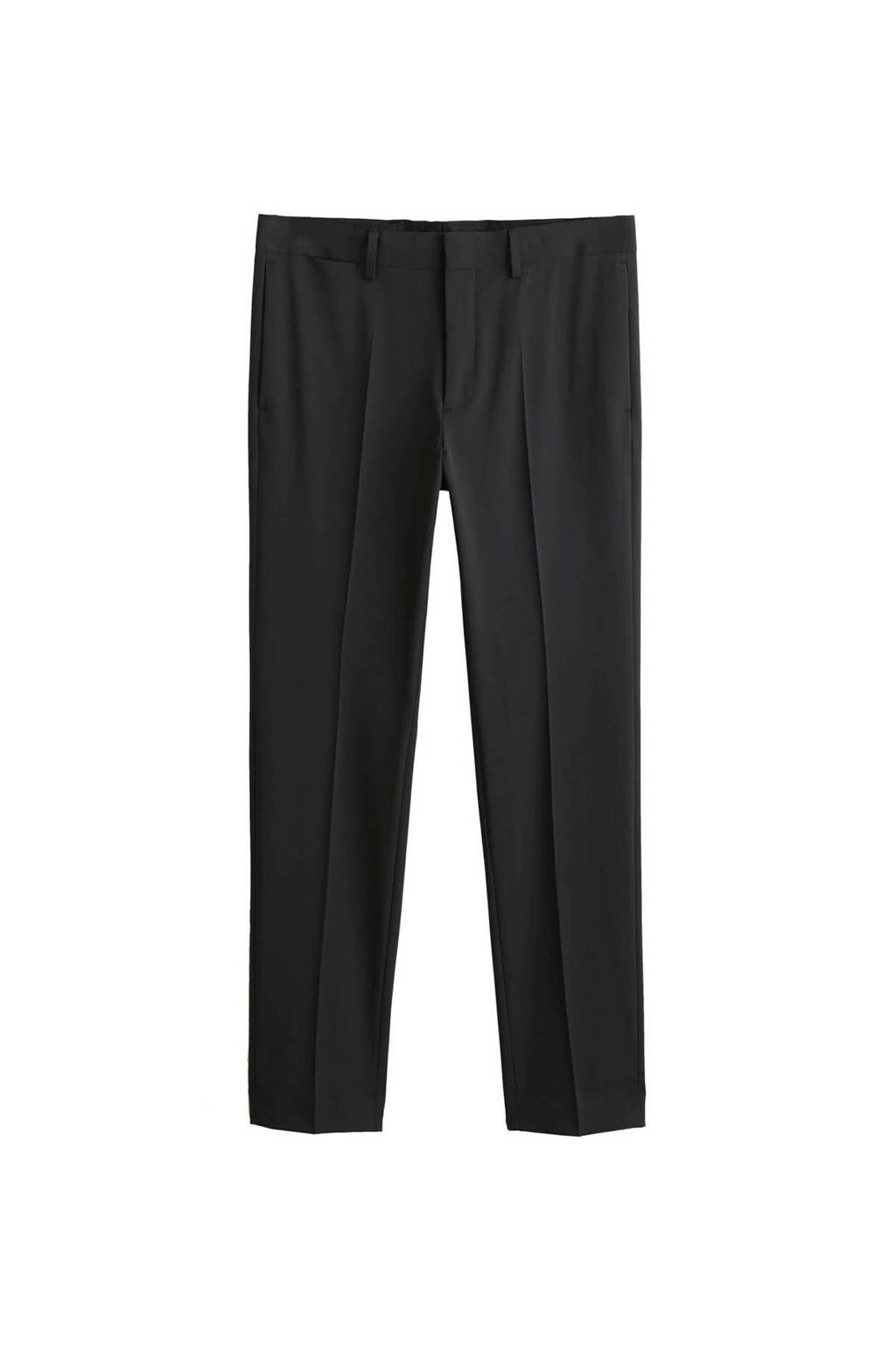 Mango Man super slim fit pantalon zwart, Zwart