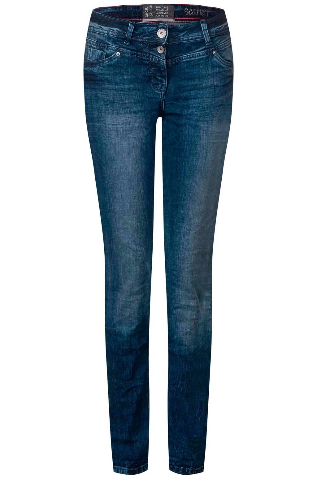 CECIL slim fit jeans Scarlett, Blauw