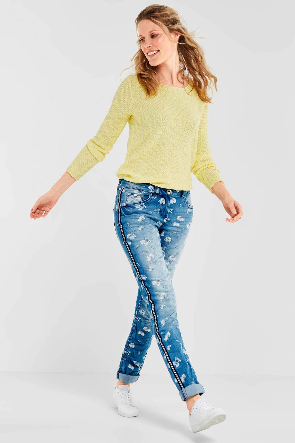 CECIL jeans met bloemenprint, Blauw