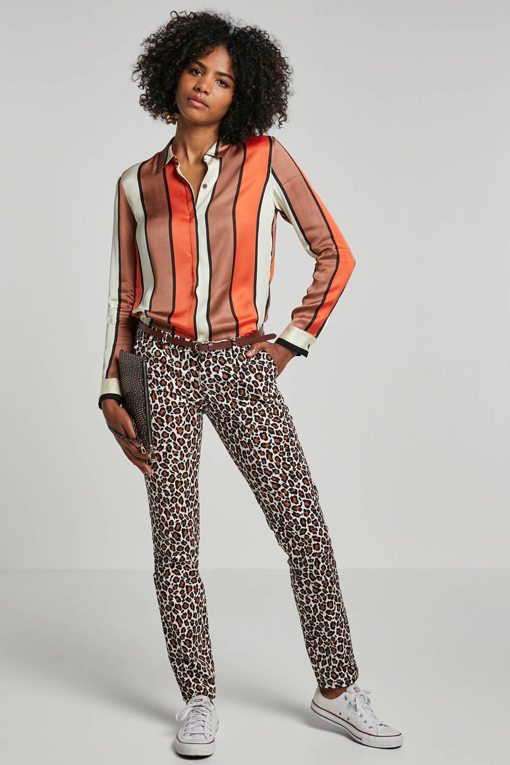 Scotch & Soda gestreepte blouse, Bruin/beige/oranje/zwart