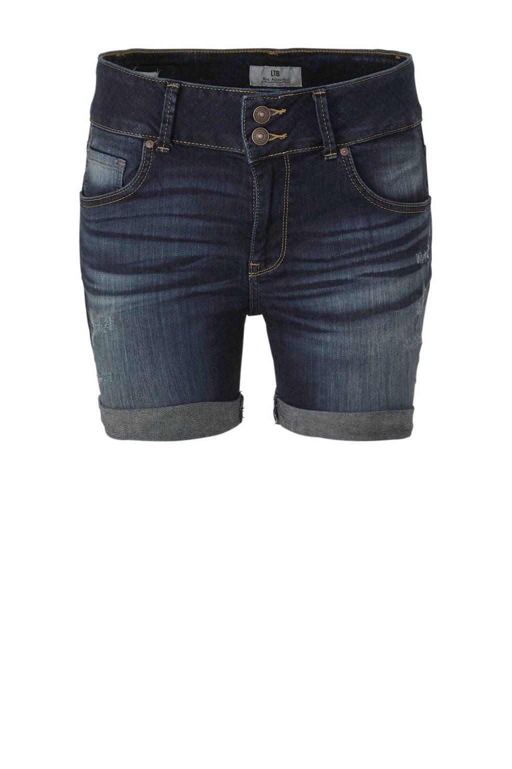 LTB Becky X jeans short donkerblauw, 51604 Lowri Wash.