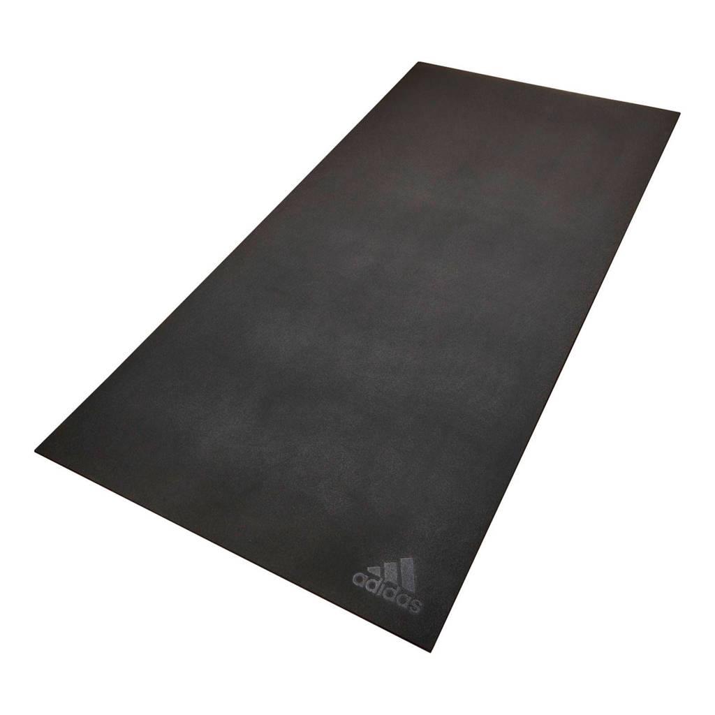 adidas  cardio vloermat - 5 mm, Zwart
