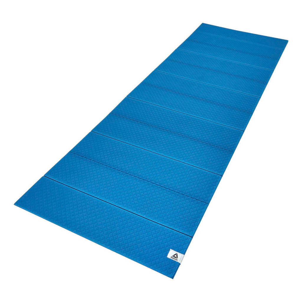 Reebok  yogamat blauw - 6 mm, Blauw