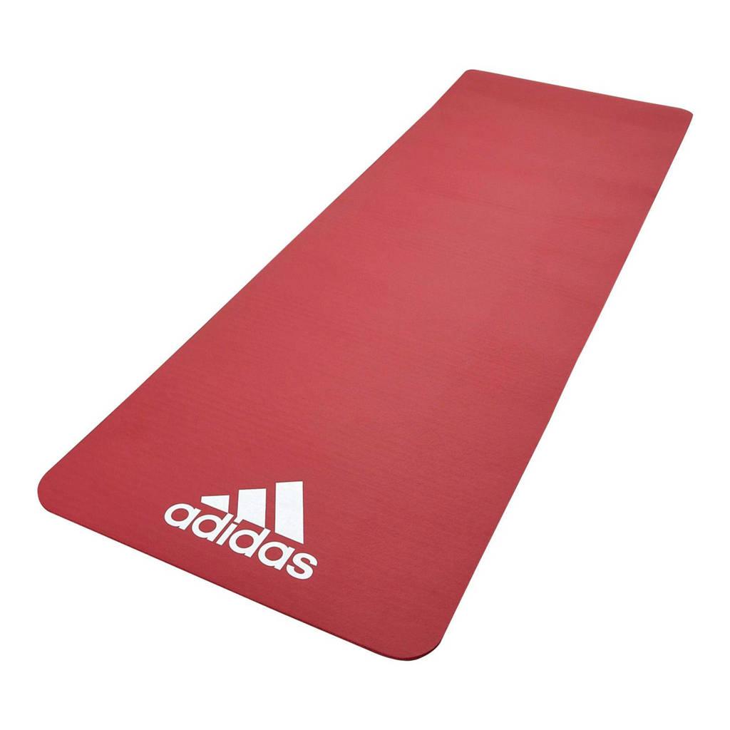 adidas  fitnessmat rood - 7 mm, Rood