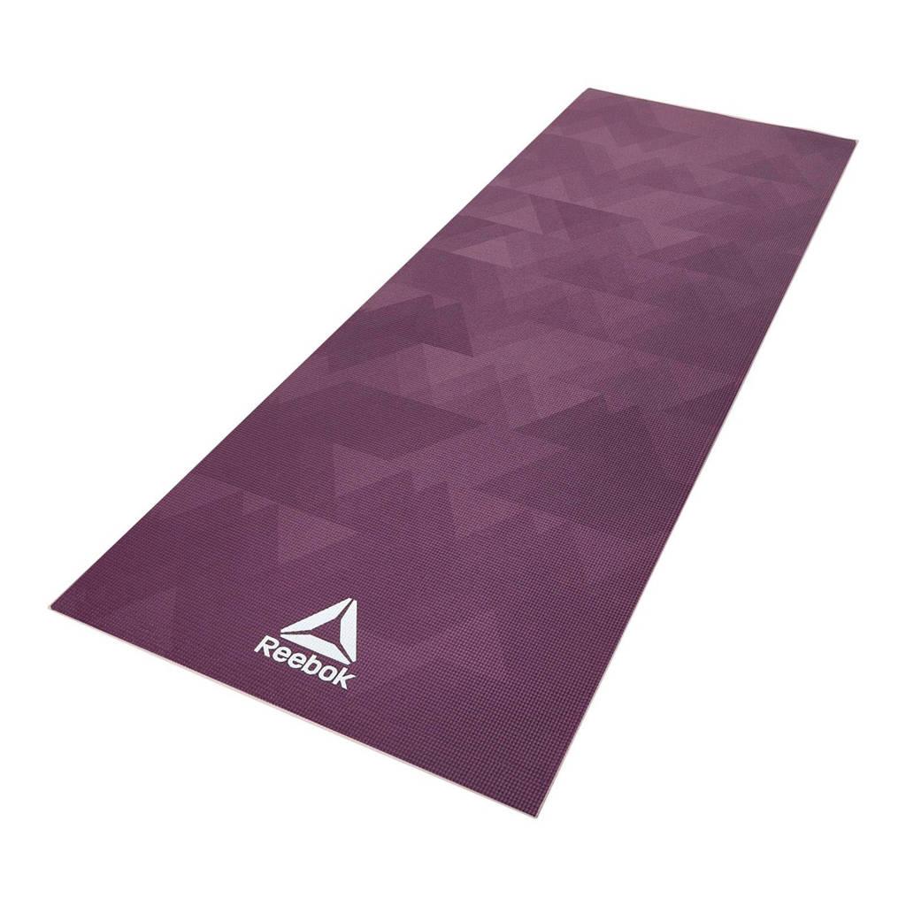 Reebok  yogamat geometric - 4 mm, Paars/roze
