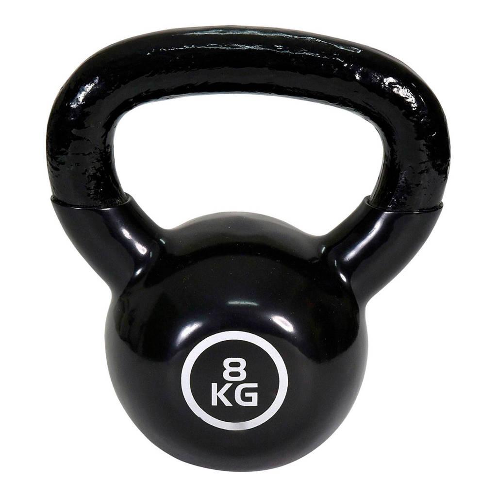 Christopeit  Kettlebell Guss - 8 kg, Zwart