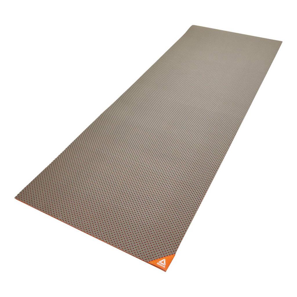 Reebok  fitnessmat oranje - 5 mm, Oranje/grijs