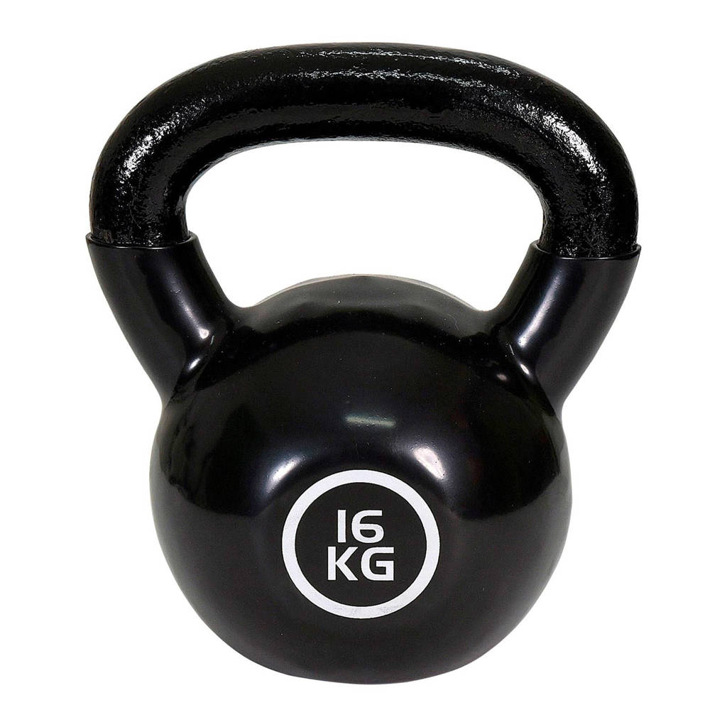 Christopeit  Kettlebell Guss - 16 kg, Zwart