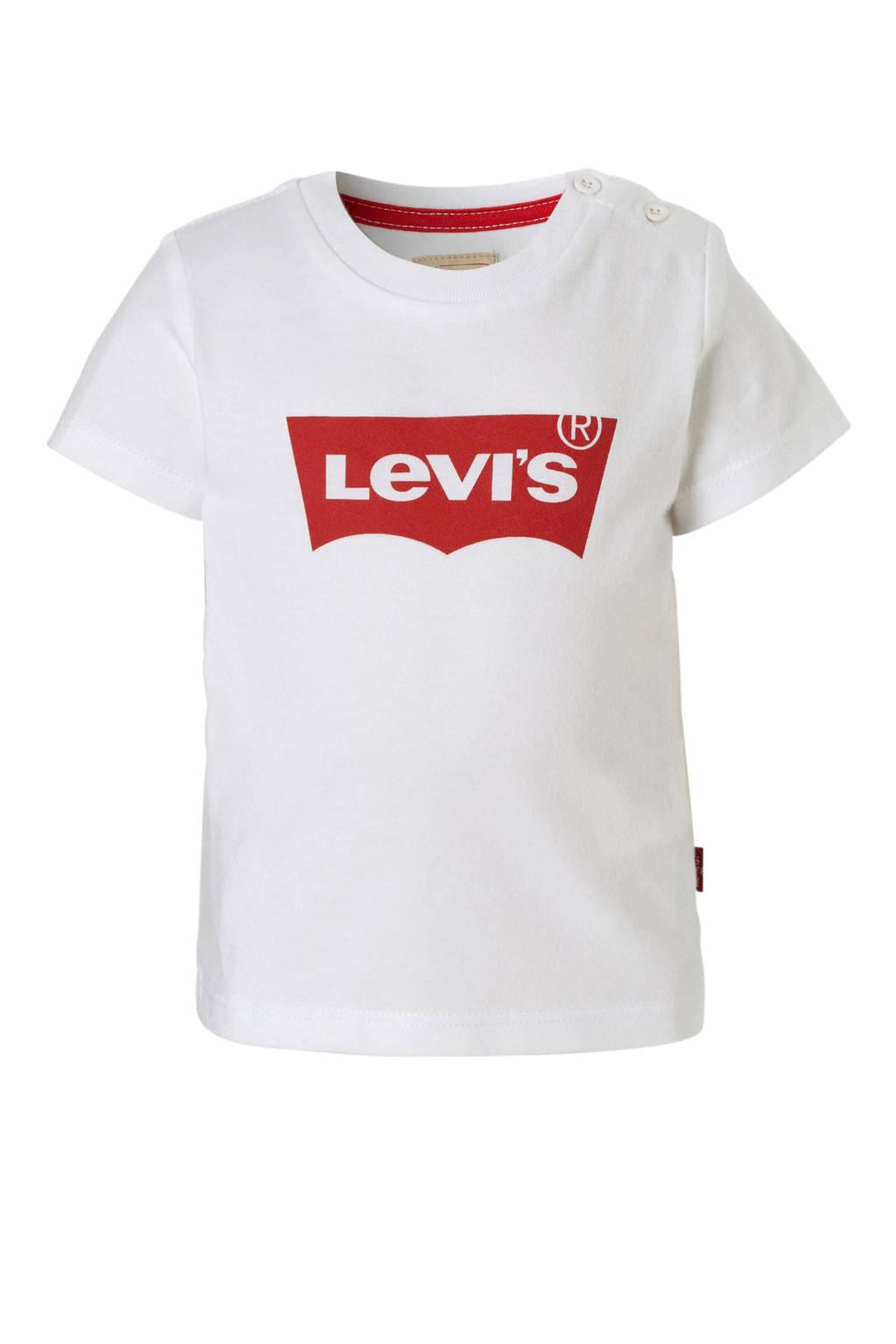 Levi's Kids baby T-shirt met Batwing logo wit, Wit