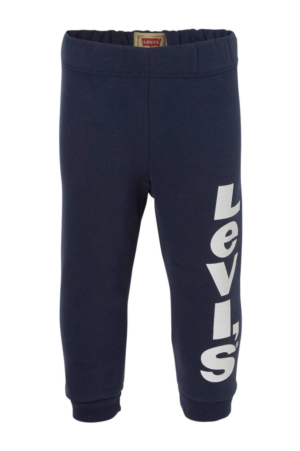 Levi's Kids   baby joggingbroek met logo donkerblauw, Donkerblauw
