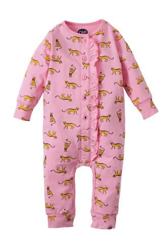 newborn boxpak Swaan met panterprint roze