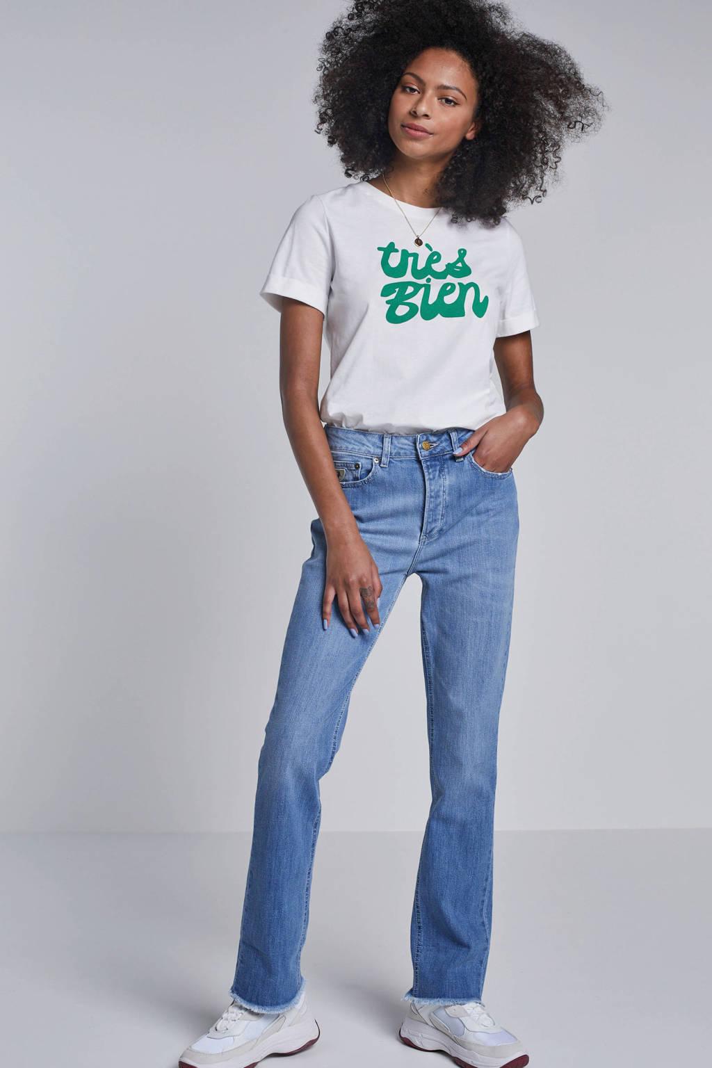 whkmp's own katoenen T-shirt met print, Ecru