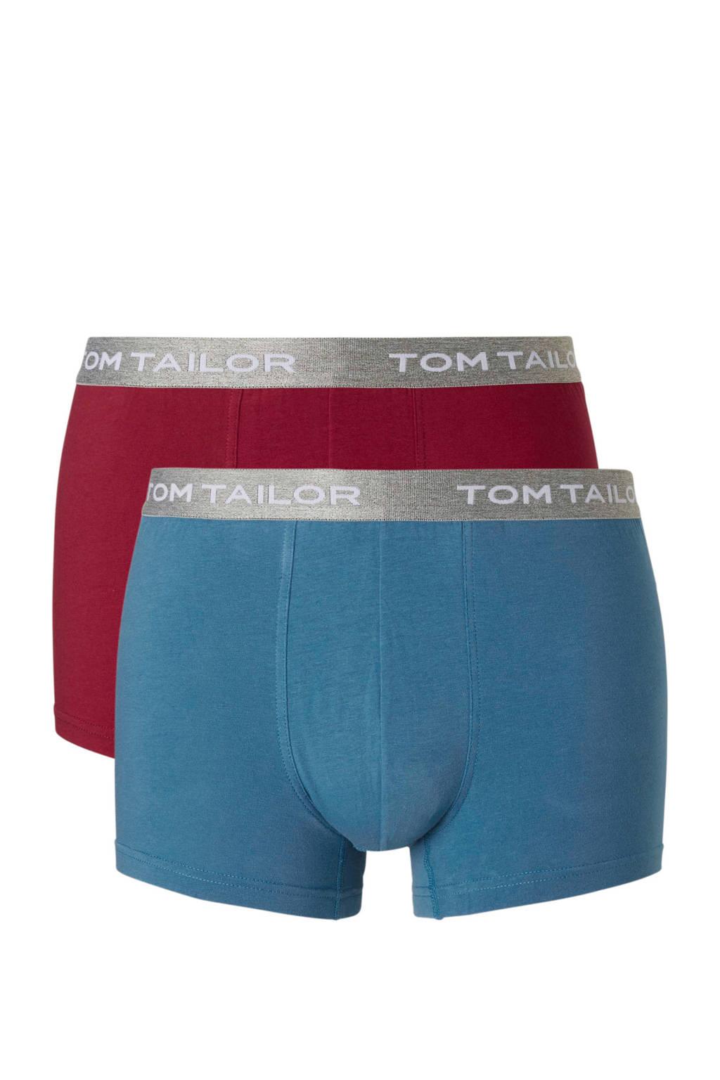 Tom Tailor boxershort (set van 2), Blauw/bordeaux