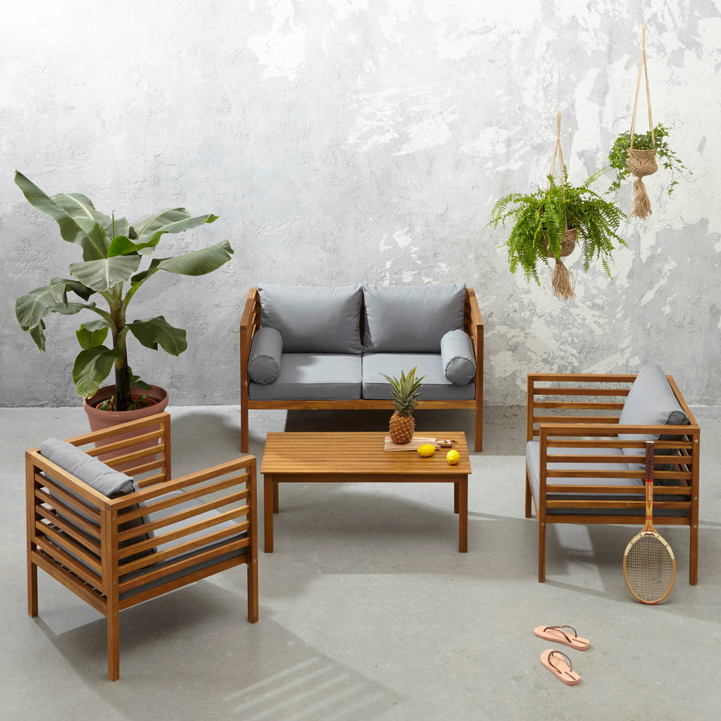 SenS-Line loungeset Castello, Grijs/naturel