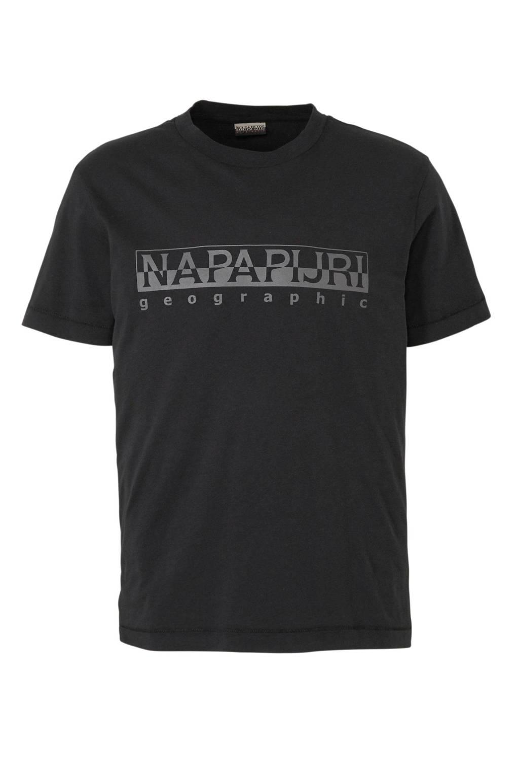 Napapijri T-shirt met logo zwart, Zwart