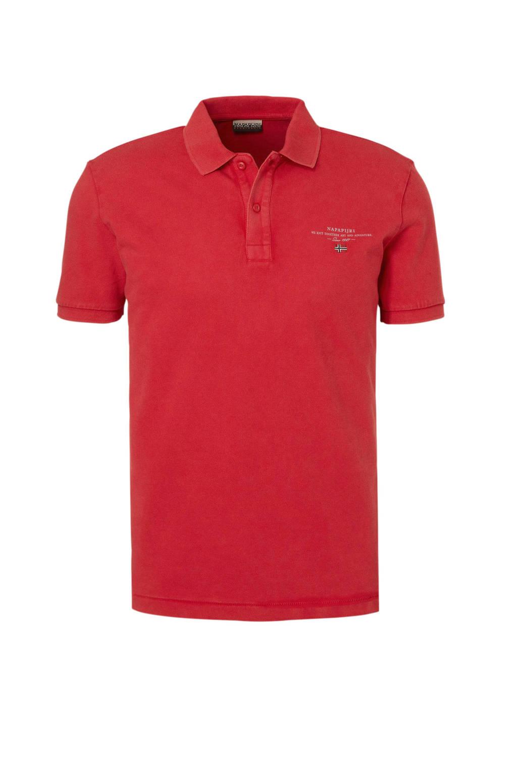 Napapijri polo rood, Rood