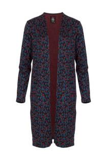 La Ligna vest met panterprint blauw (dames)