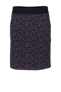 La Ligna rok met panterprint blauw