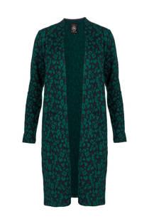 La Ligna vest met panterprint groen (dames)