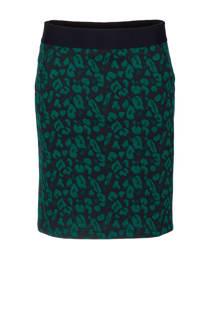 La Ligna rok met panterprint groen