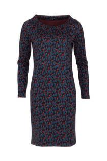 La Ligna jurk met panterprint blauw