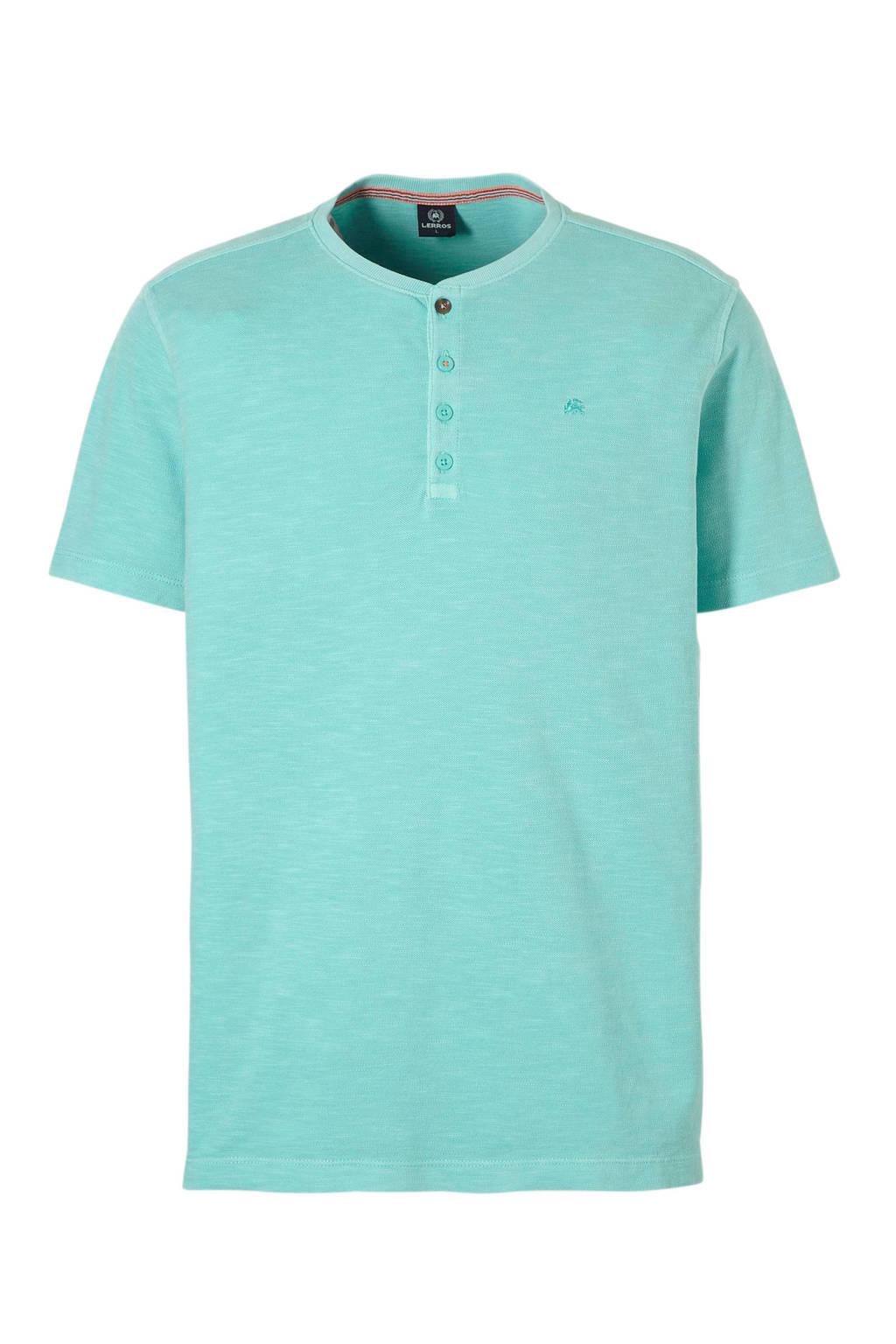 Lerros shirt T Mint Lerros Borduursels T Borduursels shirt fgvI6yY7b