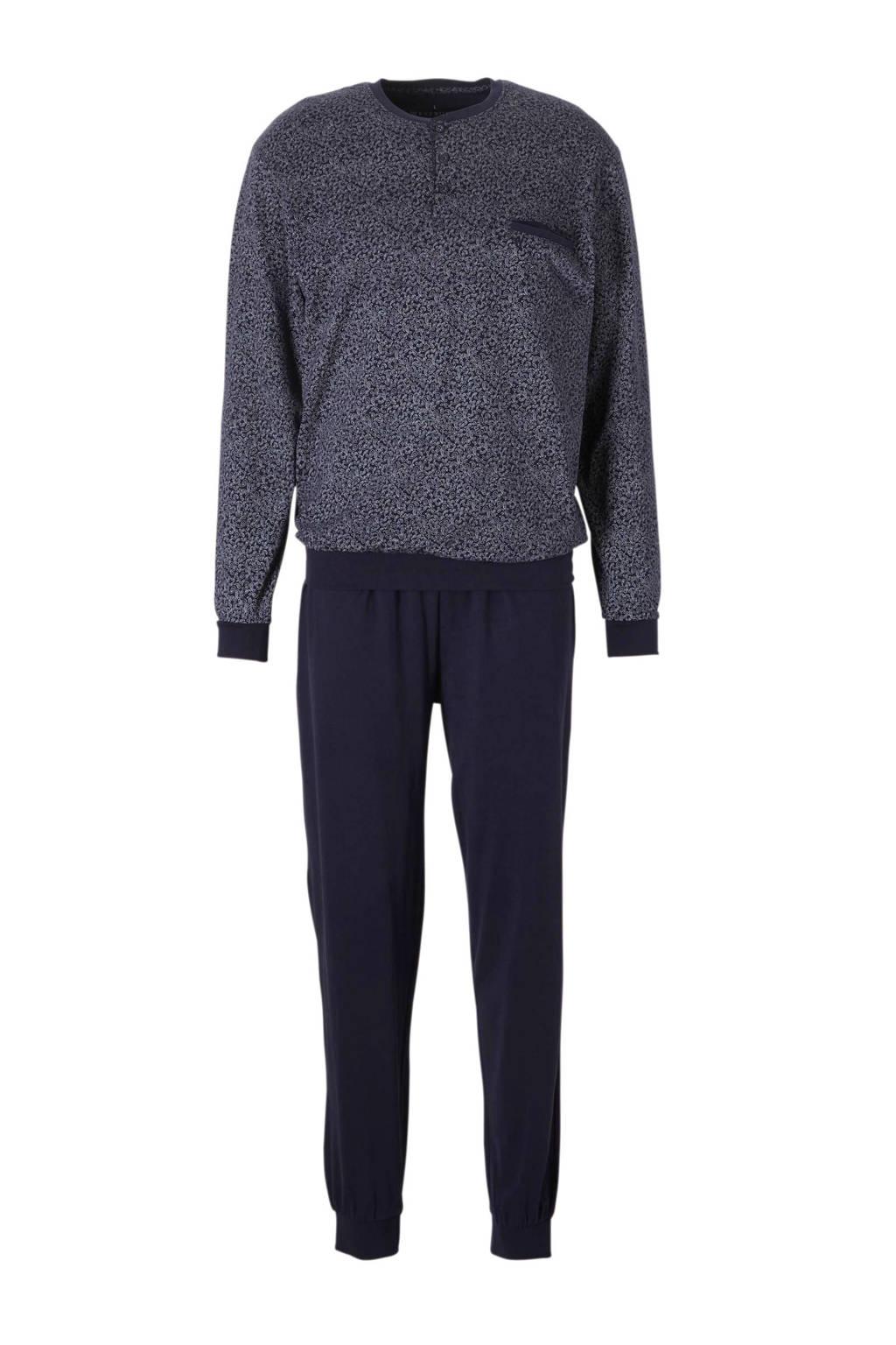C&A Westbury pyjama all over print donkerblauw, Donkerblauw/wit