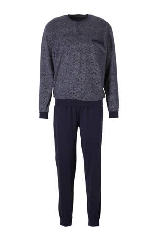 Westbury pyjama all over print donkerblauw