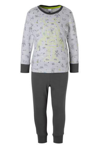 Palomino   pyjama met glow in the dark grijs