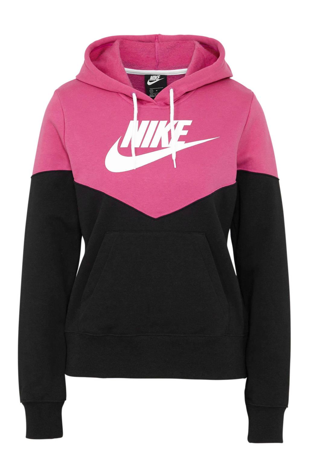 Nike hoodie zwart/fuchsia, Zwart/fuchsia