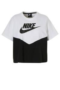 Nike / Nike T-shirt met printopdruk zwart/wit
