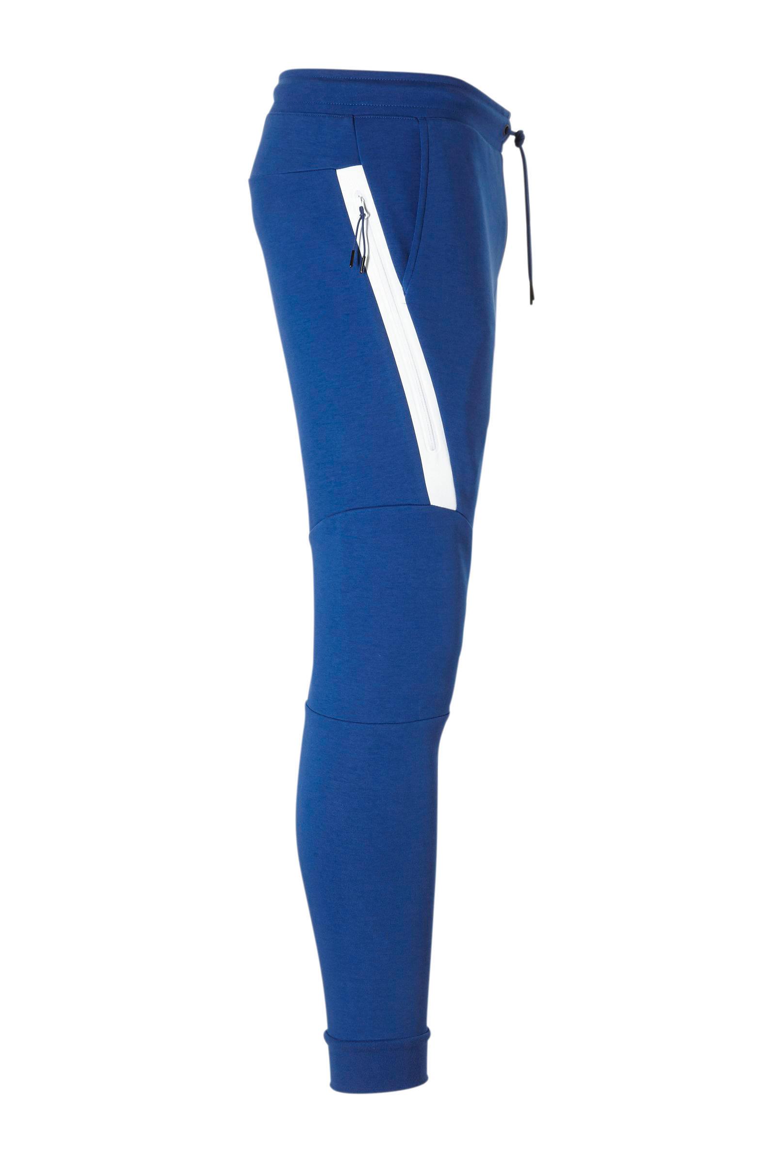 Nike Tech Fleece slim fit joggingbroek met logo blauw | wehkamp