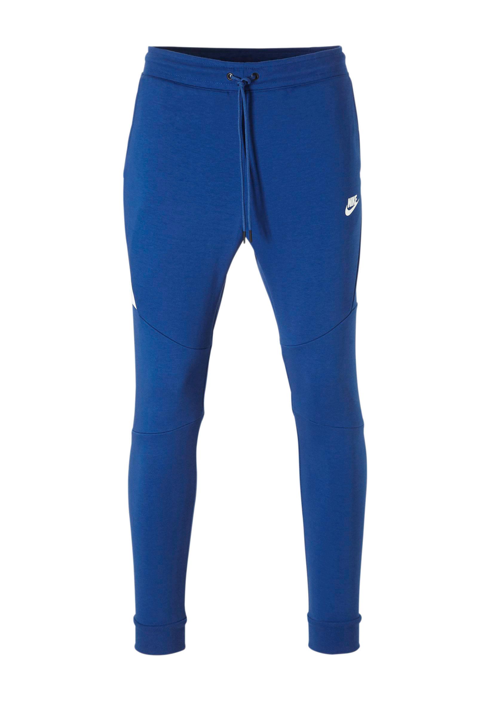 Tech Fleece slim fit joggingbroek met logo blauw