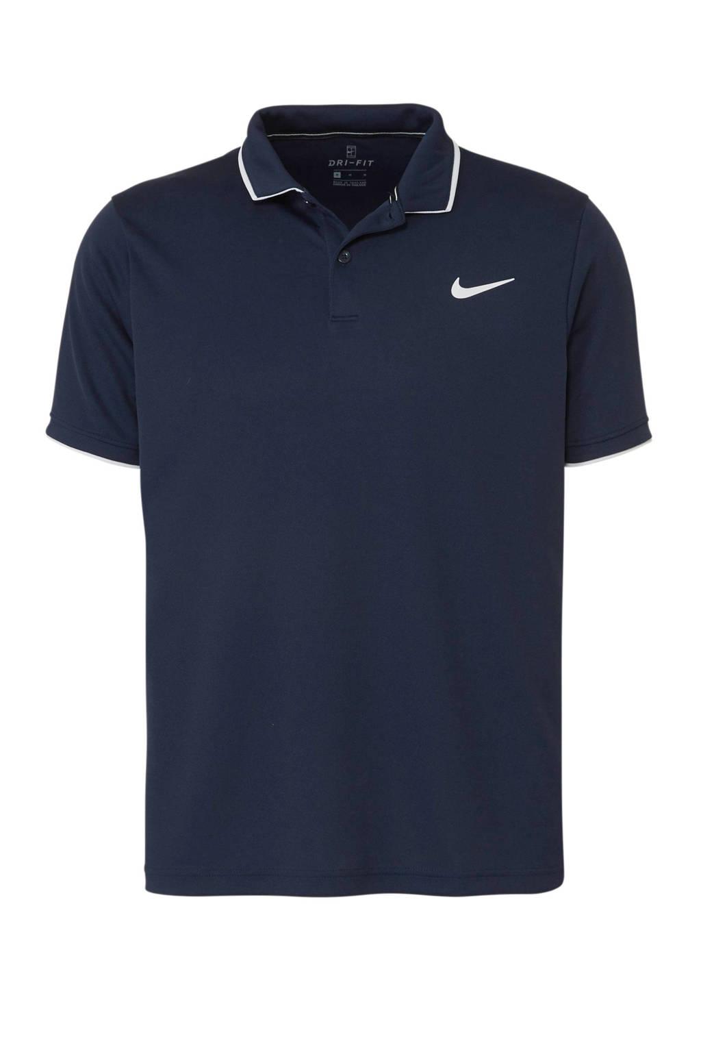 Nike   sportpolo donkerblauw, Donkerblauw