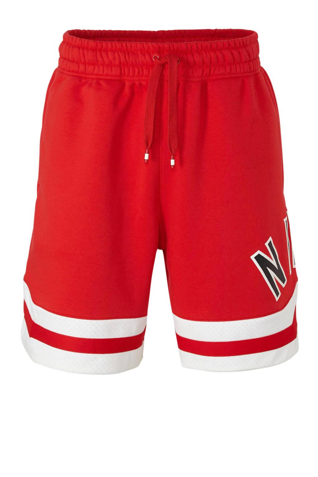 Nike   sportshort met printopdruk rood, Rood