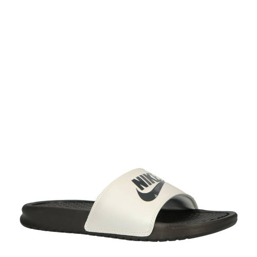 Nike Benassi JDI slippers antraciet/wit kopen