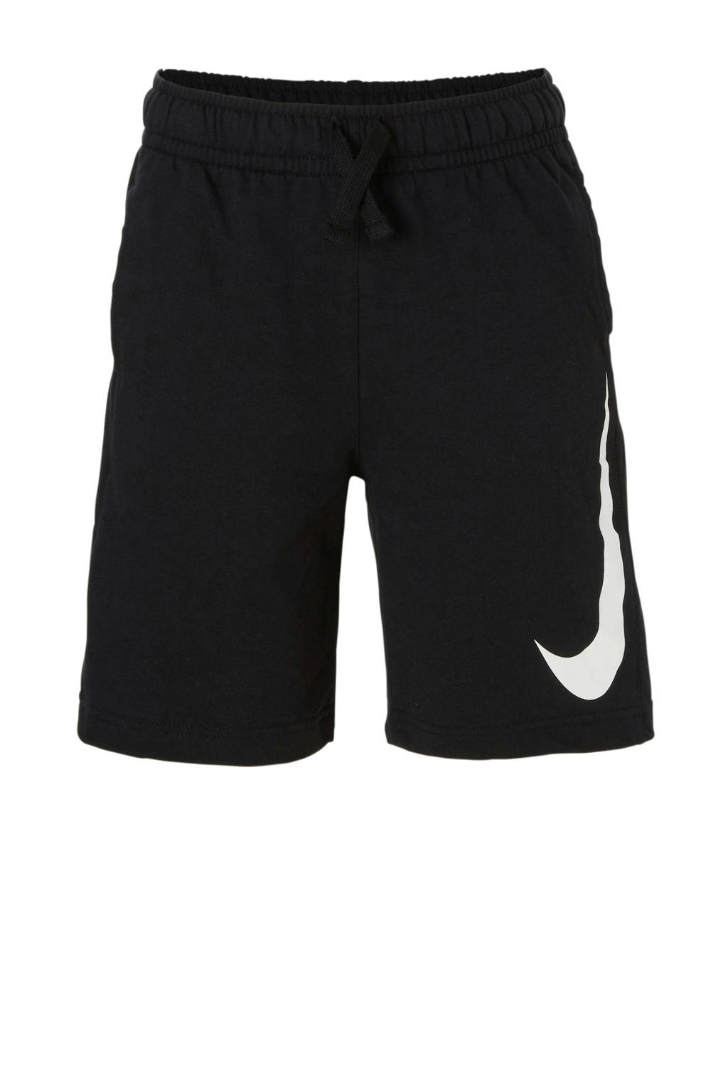 Nike regular fit short met printopdruk zwart, Zwart