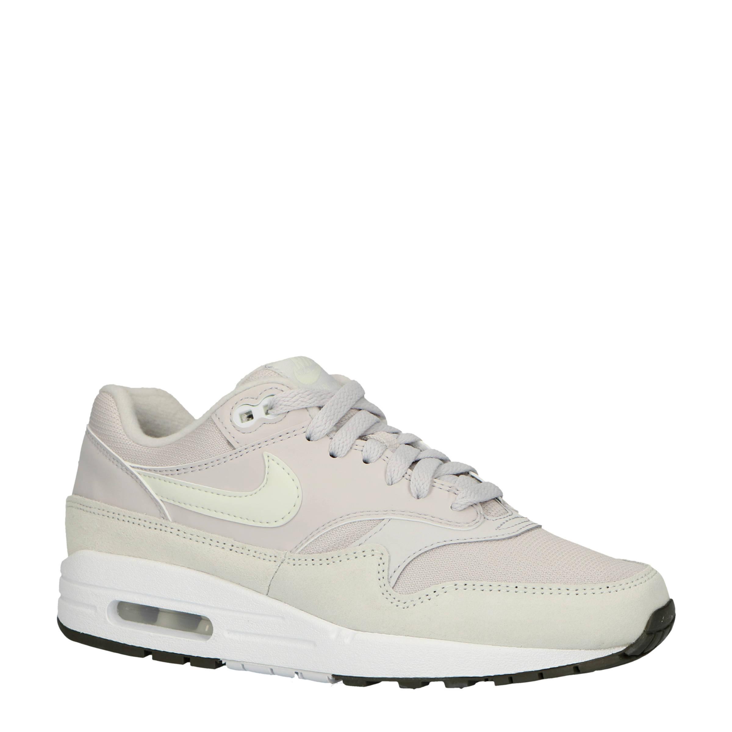 Nike Air Max 1 sneakers lichtgrijsecru | wehkamp