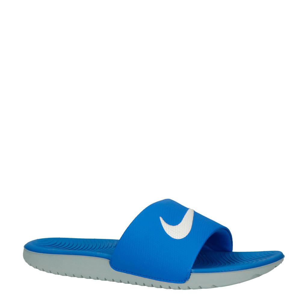 Nike   Kawa badslippers kobaltblauw/wit, Kobaltblauw/wit