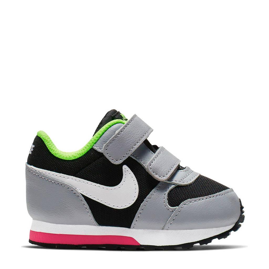Nike  MD Runner 2 (TDV) sneakers zwart, Grijs/zwart/wit