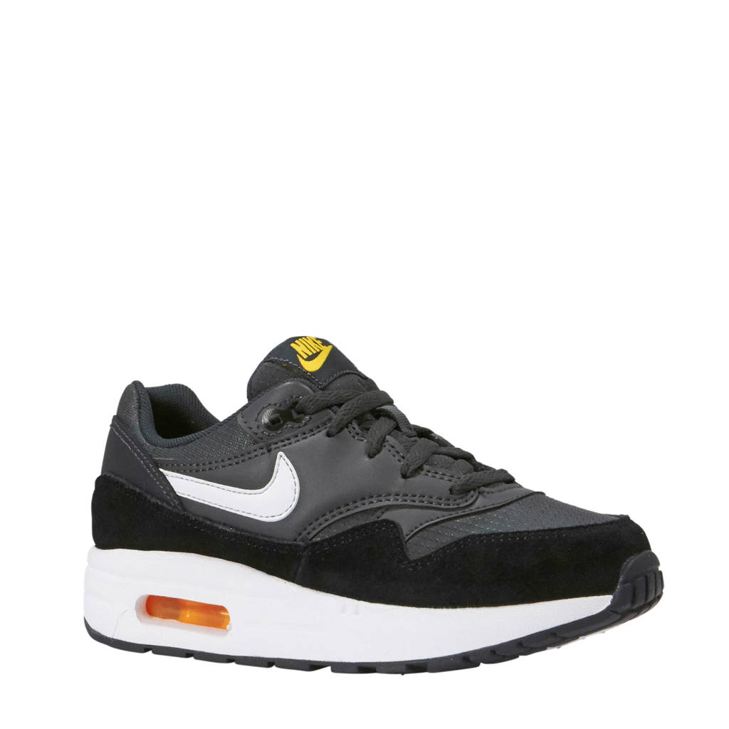 4841b4a6951 Nike Air Max 1 (PS) sneakers antraciet/wit/grijs, Antraciet/