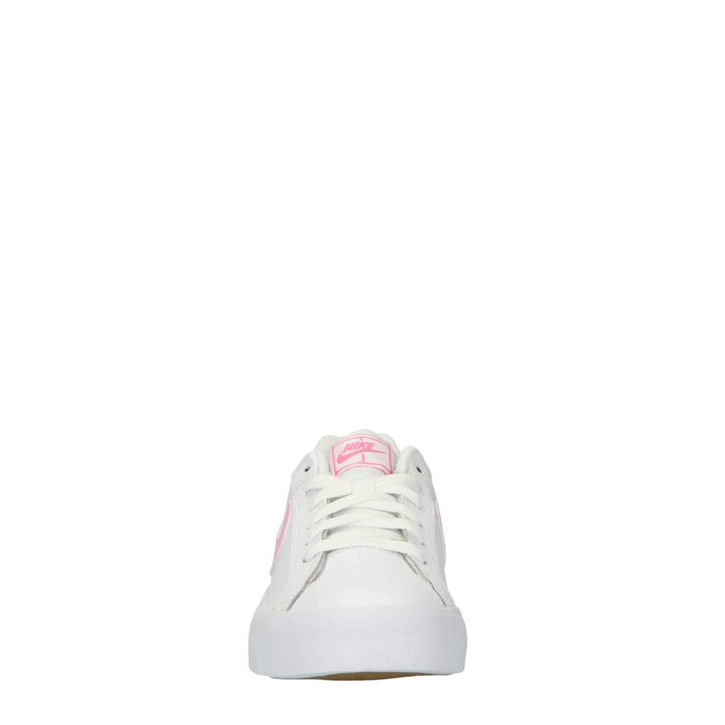 bc88fdd3a3e Nike Court Royale AC leren sneakers wit/roze, Wit/roze